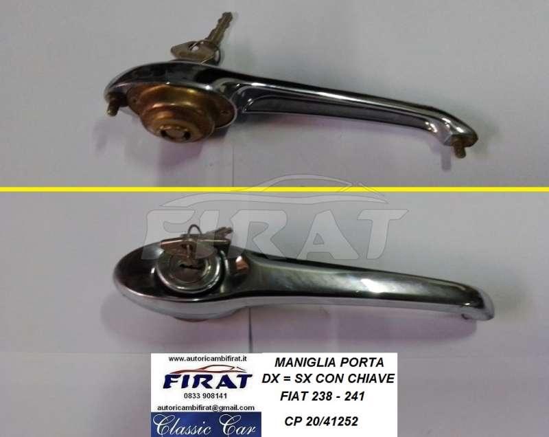 FIAT 850 T 238 241 242 CONTRO MANIGLIE PORTA APRIPORTA MANIGLIA DOOR HANDLES