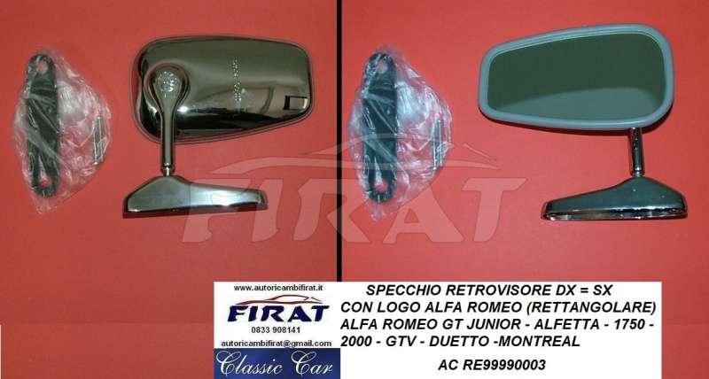 Specchio retrovisore ALFA ROMEO 164-75 -SX asferico Alfa 33 dal 1990