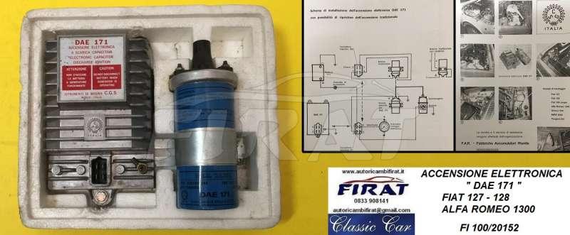 Schema Elettrico Per Accensione Elettronica Fiat 126 : Elettrico : autoricambifirat.it ricambi dauto depoca